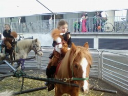 Halloween pony ride using one of our two pony carousels.